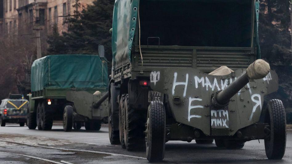 Ukrainisches Militärgerät: Der Abzug läuft