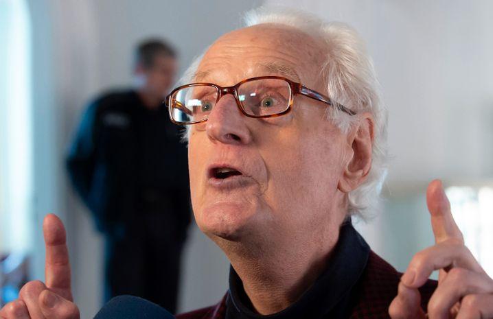 Kläger Düllmann im Januar vor dem Oberlandesgericht Naumburg: Emotionale Rede im Gerichtssaal