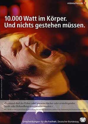 """Ein weiteres Plakat aus der Kampagne mit dem Thema """"Entscheidungen für die Freiheit"""""""