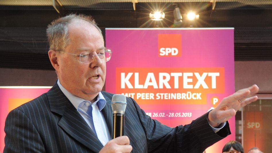 SPD-Kanzlerkandidat Steinbrück: Schlechte Umfragewerte
