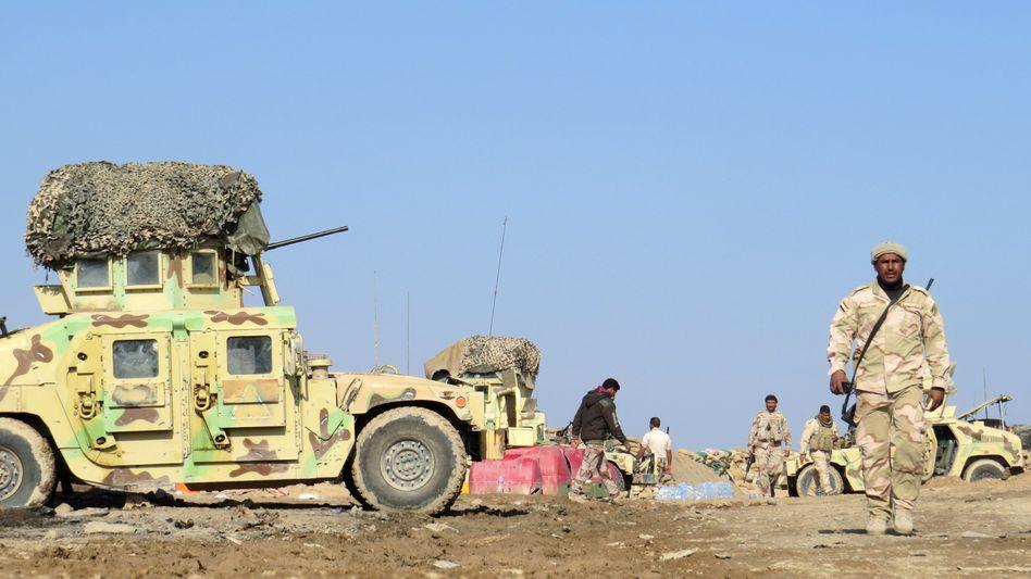 Mit der irakischen Armee verbündete Kämpfer nahe Ramadi: Angriff sehr wahrscheinlich
