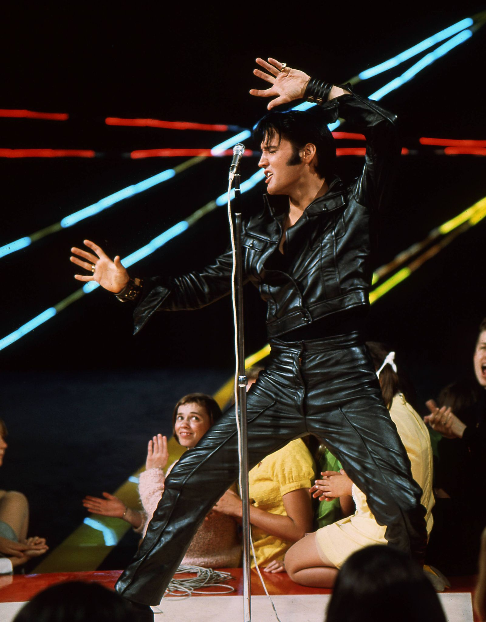 Elvis Presley on his 1968 Comeback Special for television 1968 NBC Hollywood CA USA PUBLICATIONxI