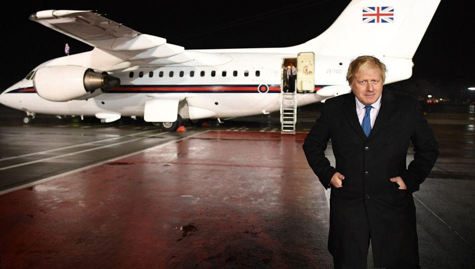 Johnson bei seiner Ankunft in Moskau
