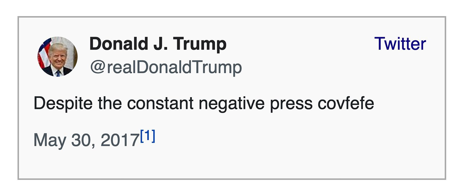 Trump/ Covfefe SCREENSHOT
