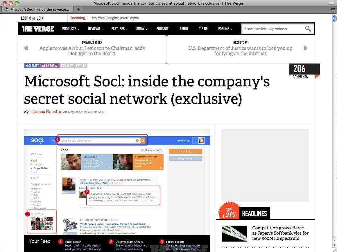 SCREENSHOT The Verge / Microsoft SOCL/ NETZWELT