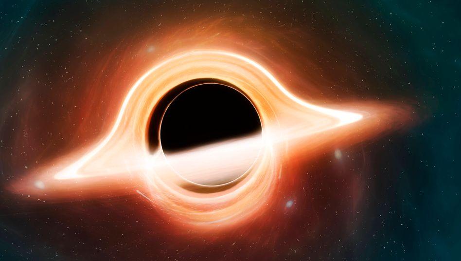 Illustration eines schwarzen Loches