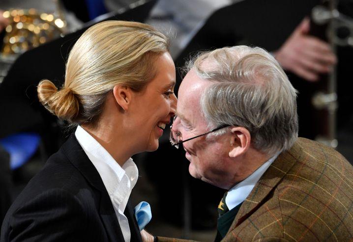 Weidel und Gauland am 18. November vor der Volkstrauerveranstaltung im Plenum des Bundestags