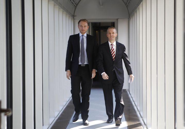 FDP-Politiker Lindner und Papke (2012)