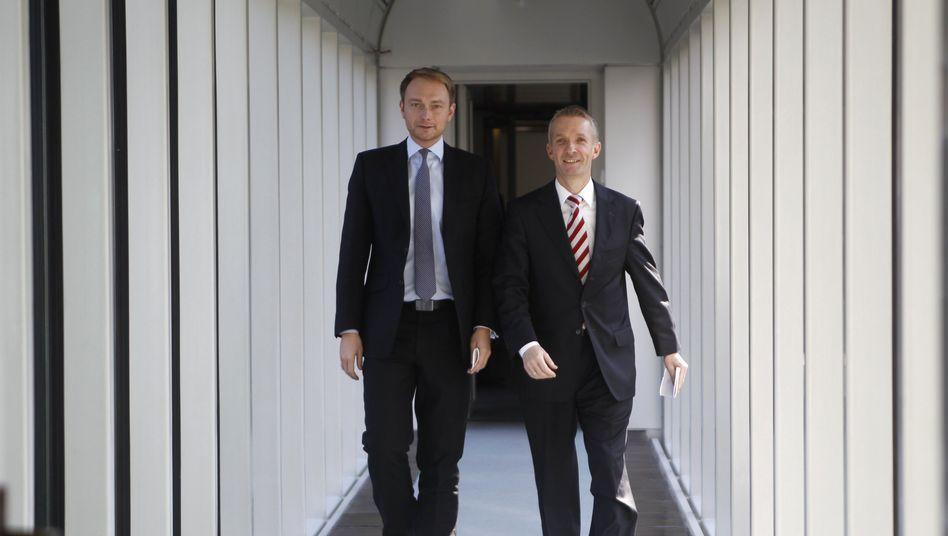 FDP-Politiker Lindner und Papke (Archivbild von 2012)