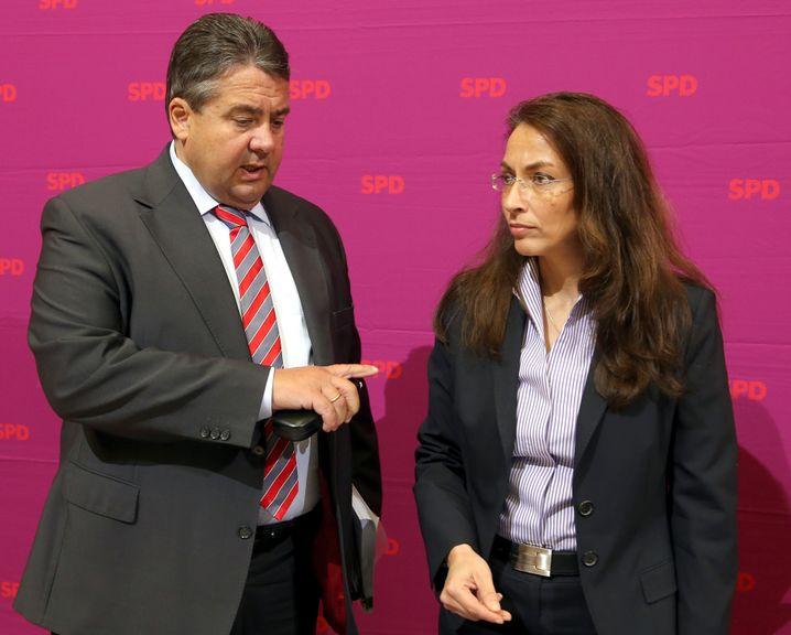 Parteivorsitzender Gabriel, Generalsekretärin Fahimi: Kein einfacher Chef