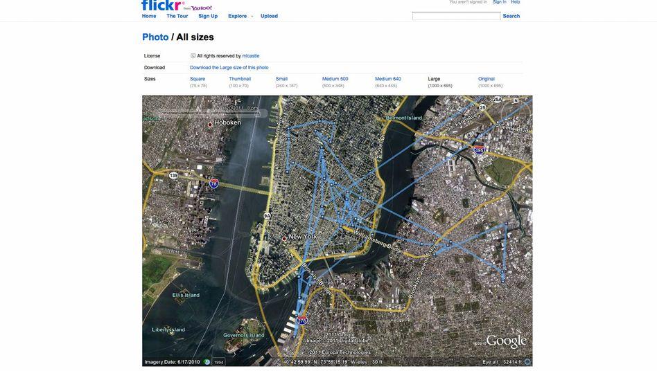 Standortprotokoll: Entwickler Mike Castleman hat visualisiert, wo sein Android-Handy war