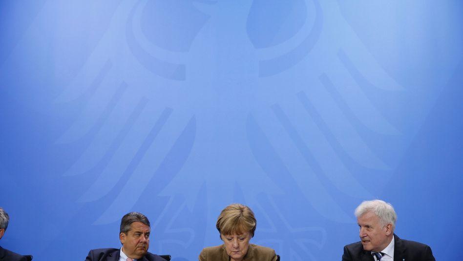 Koalitionäre Gabriel, Merkel, Seehofer