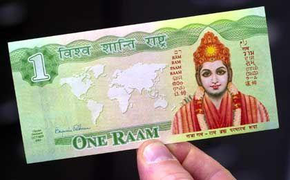 """Ein-Raam-Banknote: """"Katalysator auf dem Feld der Ökonomie"""""""