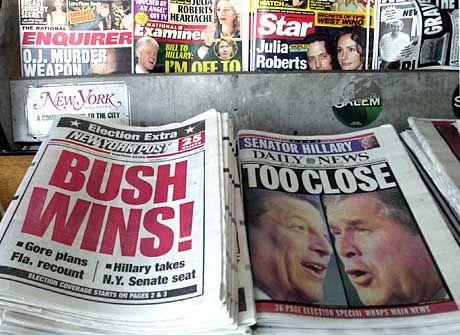 Amerikanische Tageszeitungen: Höchste Auflagenverluste seit 1995