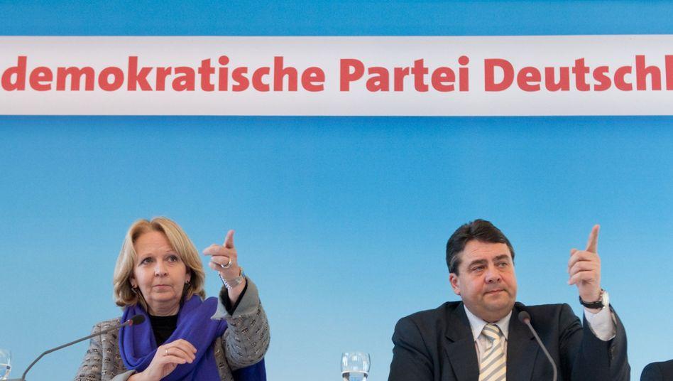 """NRW-SPD-Chefin Kraft mit Parteichef Gabriel: """"Über echte Probleme reden"""""""