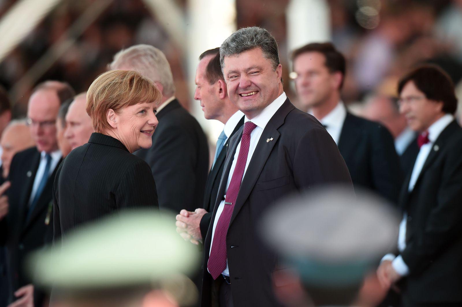 D-Day/ Merkel/ Poroschenko