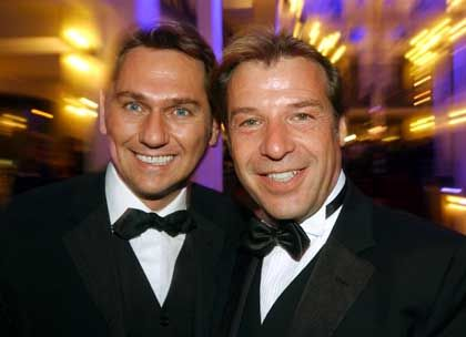 German singer Patrick Lindner (right): My adopted son is like my own flesh and blood.