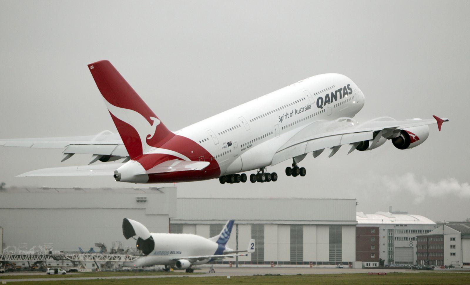 NICHT VERWENDEN Quantas A380/ Hamburg