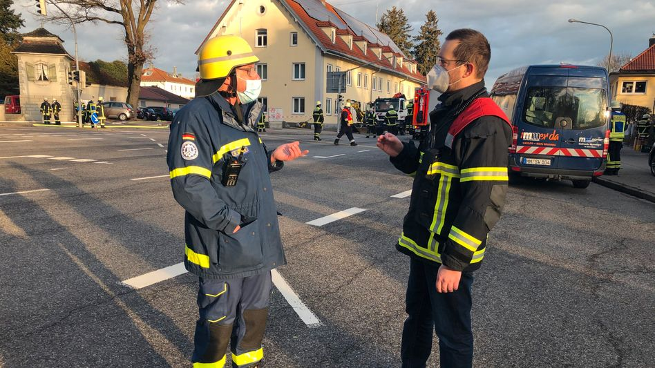 Gasexplosion: Einsatzkräfte in Memmingen