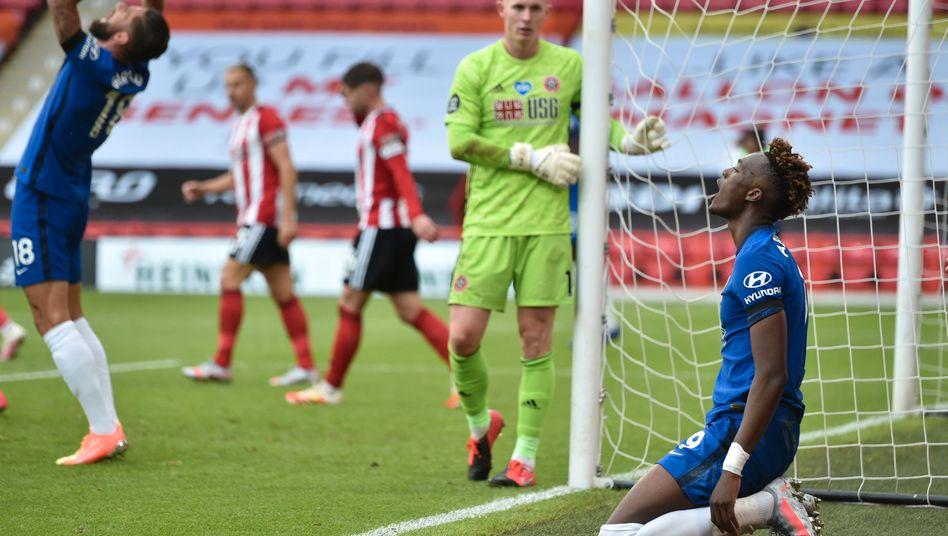 Tammy Abraham kann es nicht fassen: Gegen Sheffield United setzte es eine deutliche Niederlage