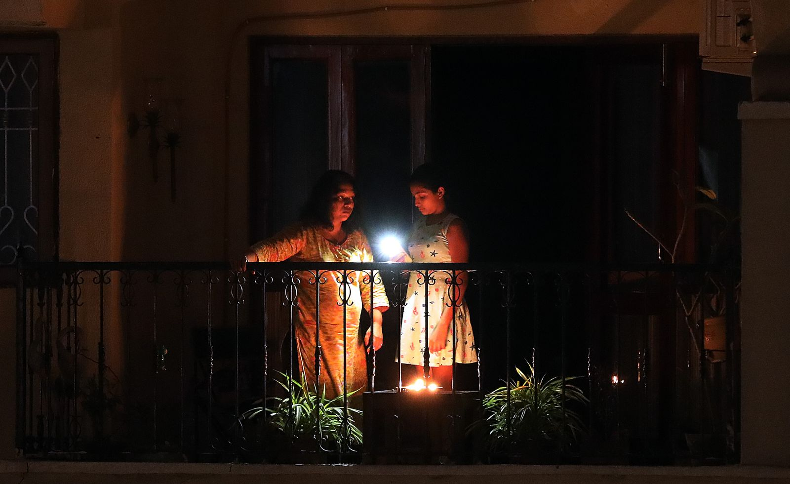 Indian prime minister Narendra Modi has urged Indian citizens to give out a symbolic message of unity on the fight against Coronavirus by lighting a candle, diya (earthen lamp) or by flashing a torchlight, New Delhi, India - 05 Apr 2020