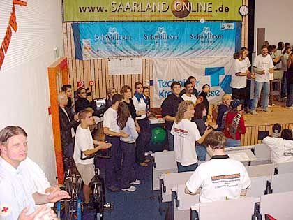 Durchhalten: Studenten beim Rekordversuch