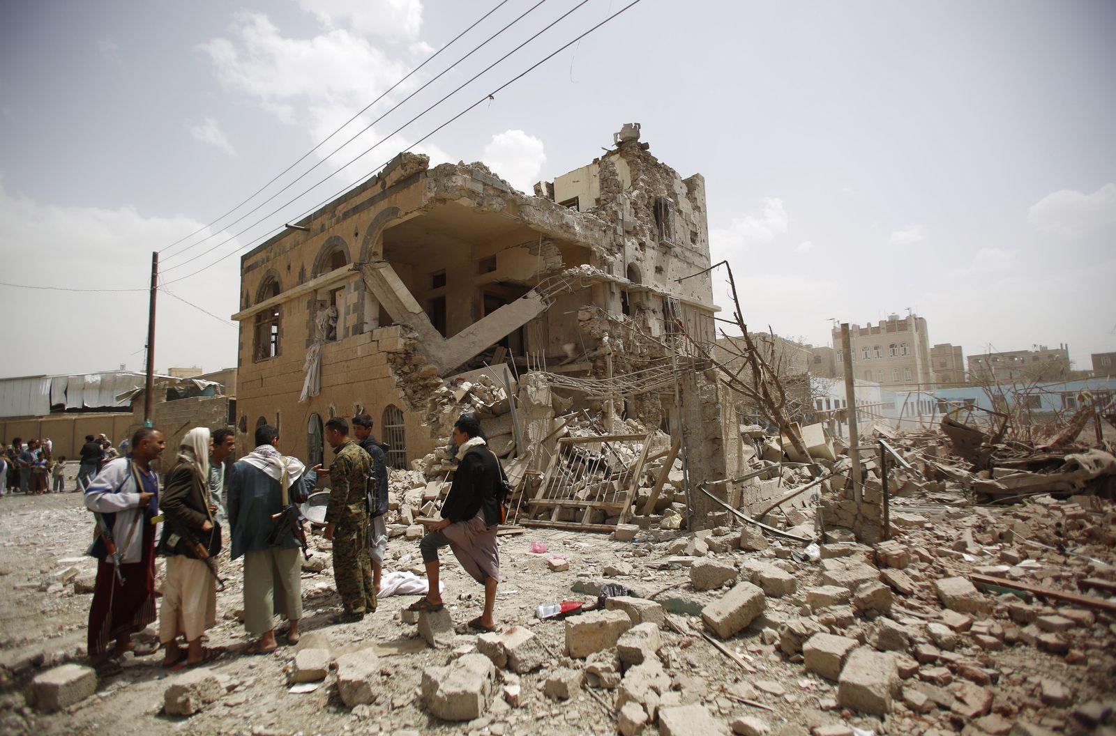 Schiiten, zerstörte Häuser