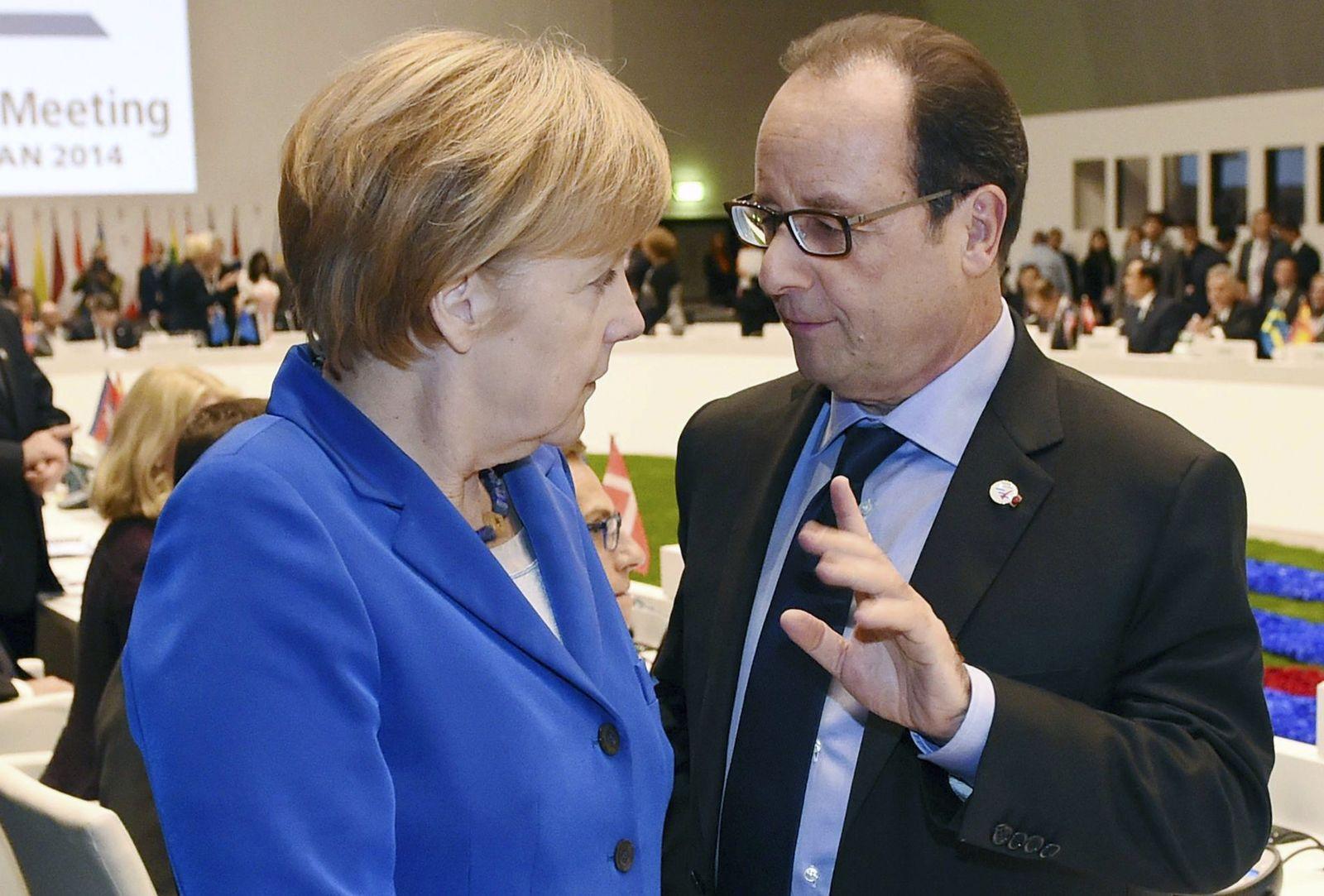 Merkel Hollande Mailand