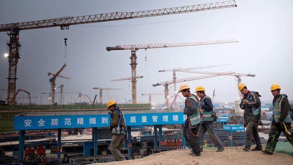 Bauarbeiter in China