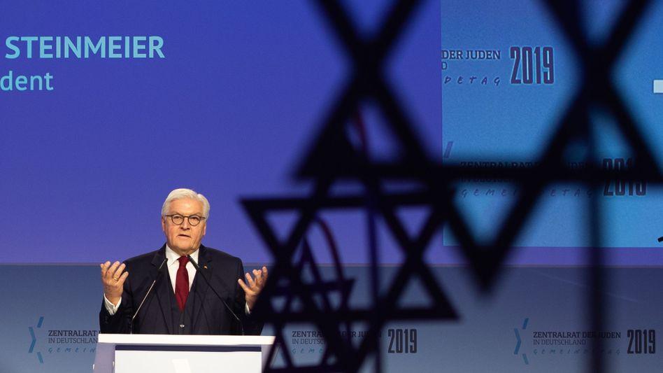 Frank-Walter Steinmeier hält eine Rede auf dem Jüdischen Gemeindetag in Berlin