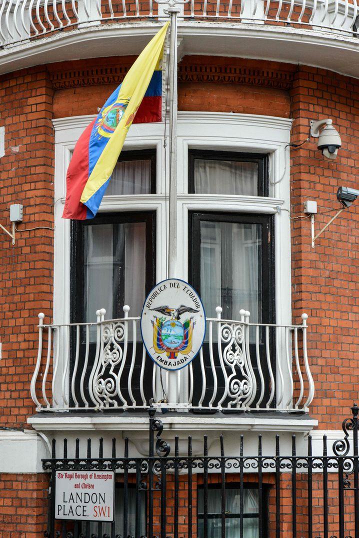 Balkon der ecuadorianischen Botschaft: Aktuell wieder ein beliebtes Fotomotiv