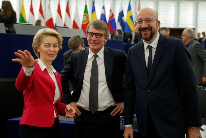 Kommissionschefin Ursula von der Leyen und Parlamentspräsident David-Maria Sassoli