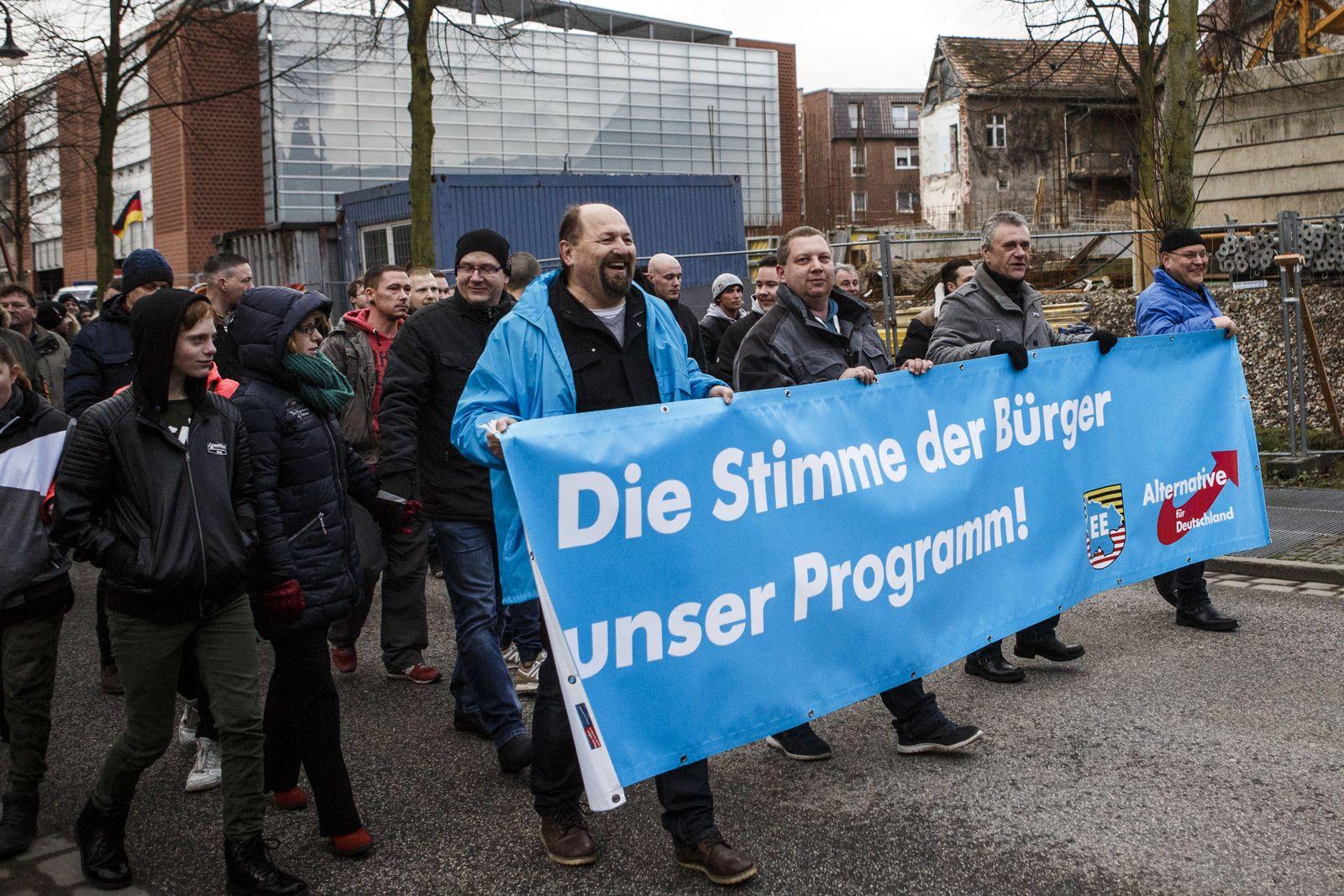 AfD-Demo / Cottbus