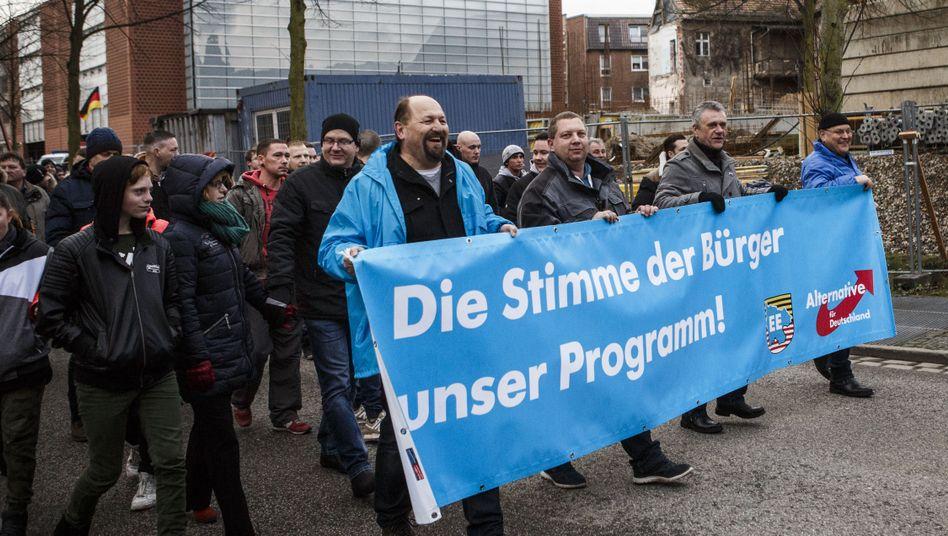 AfD-Demo in Cottbus