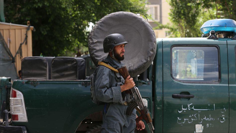 Afghanischer Sicherheitsbeamter: Vor wenigen Tagen ist eine Bombe in einer Moschee in Kabul explodiert