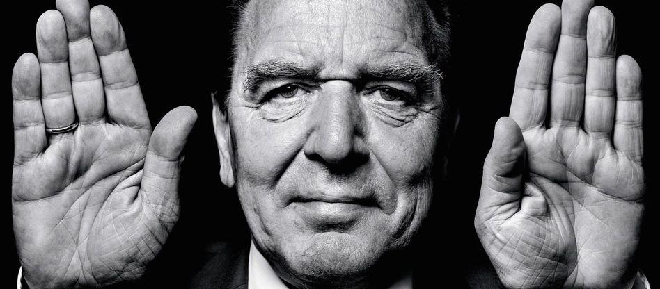 Politiker Schröder Kräftiger Daumen