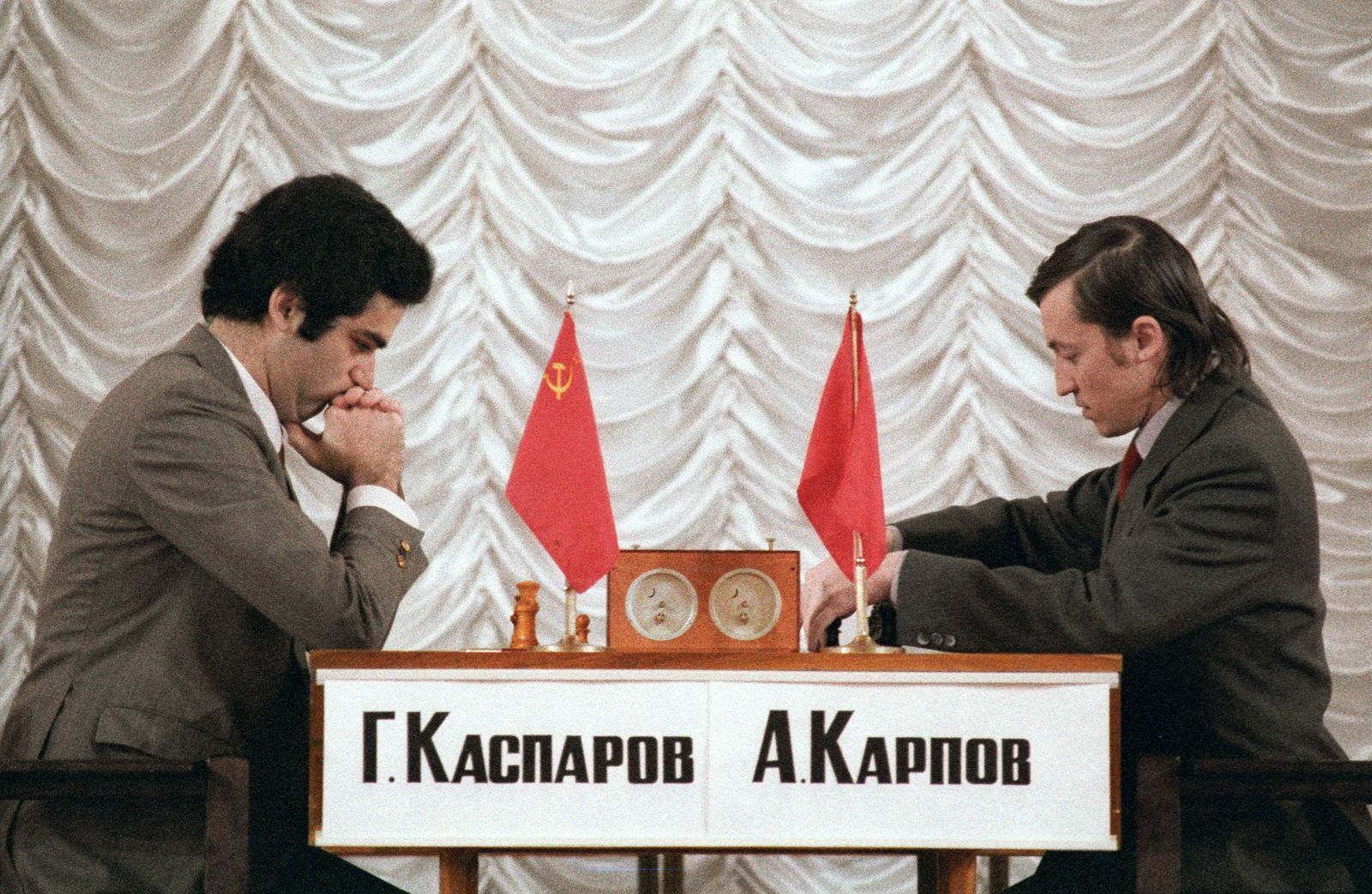 EINMALIGE VERWENDUNG Schach/ Garri Kasparow vs Anatoli Karpow