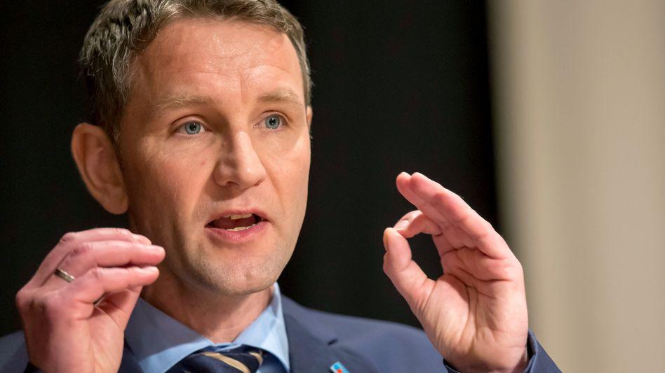 Thüringer AfD-Landessprecher und Fraktionschef Höcke: Wehrt sich gegen Vorwürfe
