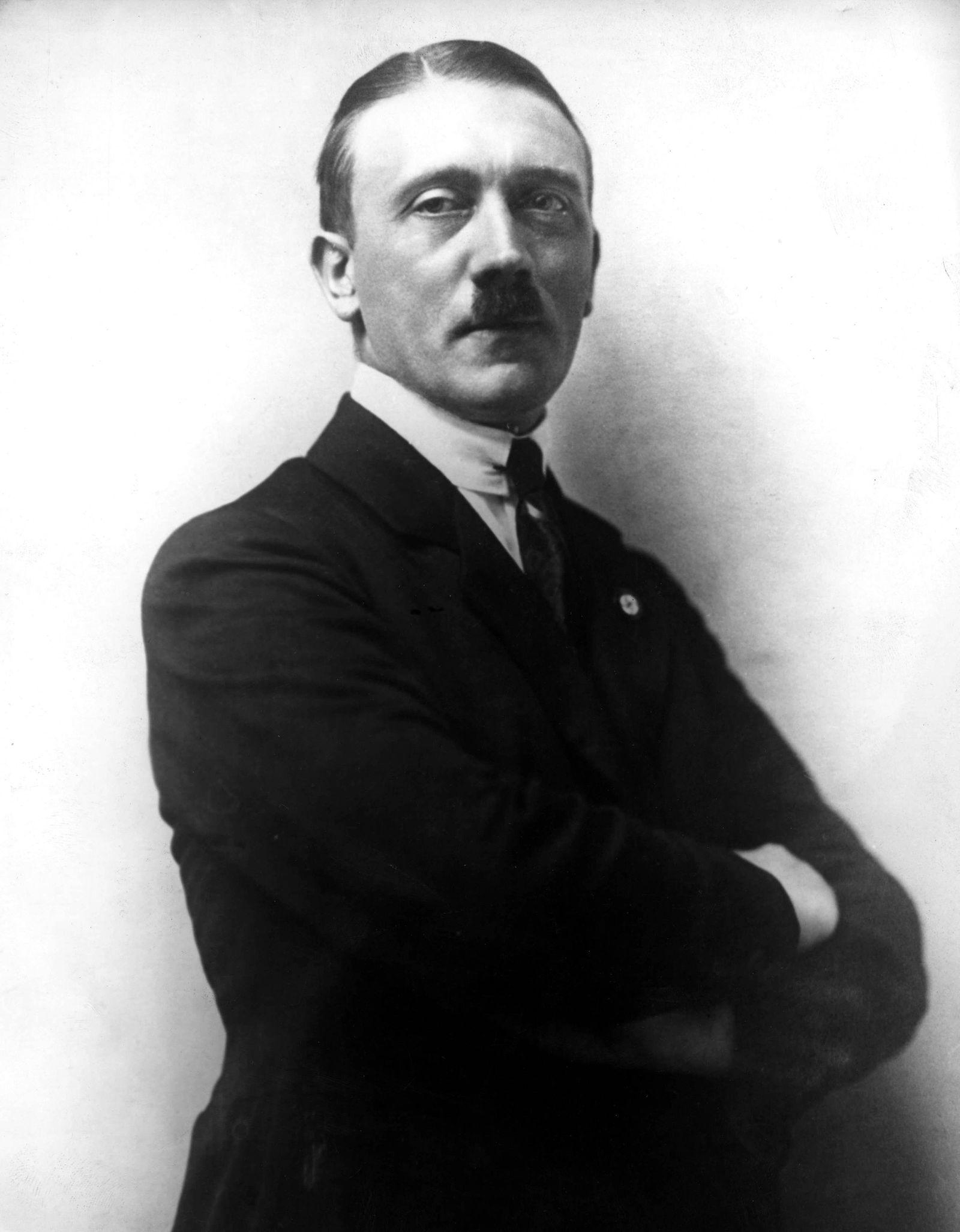 Apr 11 1921 Berlin Germany Portrait of Nazi leader ADOLF HITLER in 1921 Berlin Germany PUBLI
