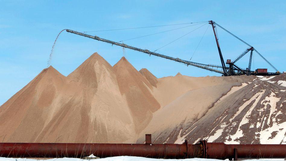 Belarus gehört zu den größten Produzenten von Kali weltweit. Eine Kali-Mine liegt nahe der Stadt Soligorsk