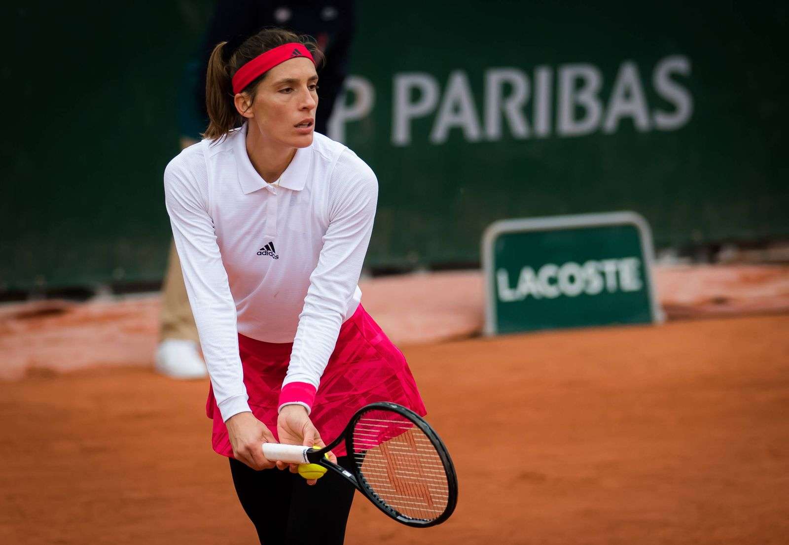 September 28, 2020, Paris, FRANCE: Andrea Petkovic of Germany in action during the first round at the 2020 Roland Garro