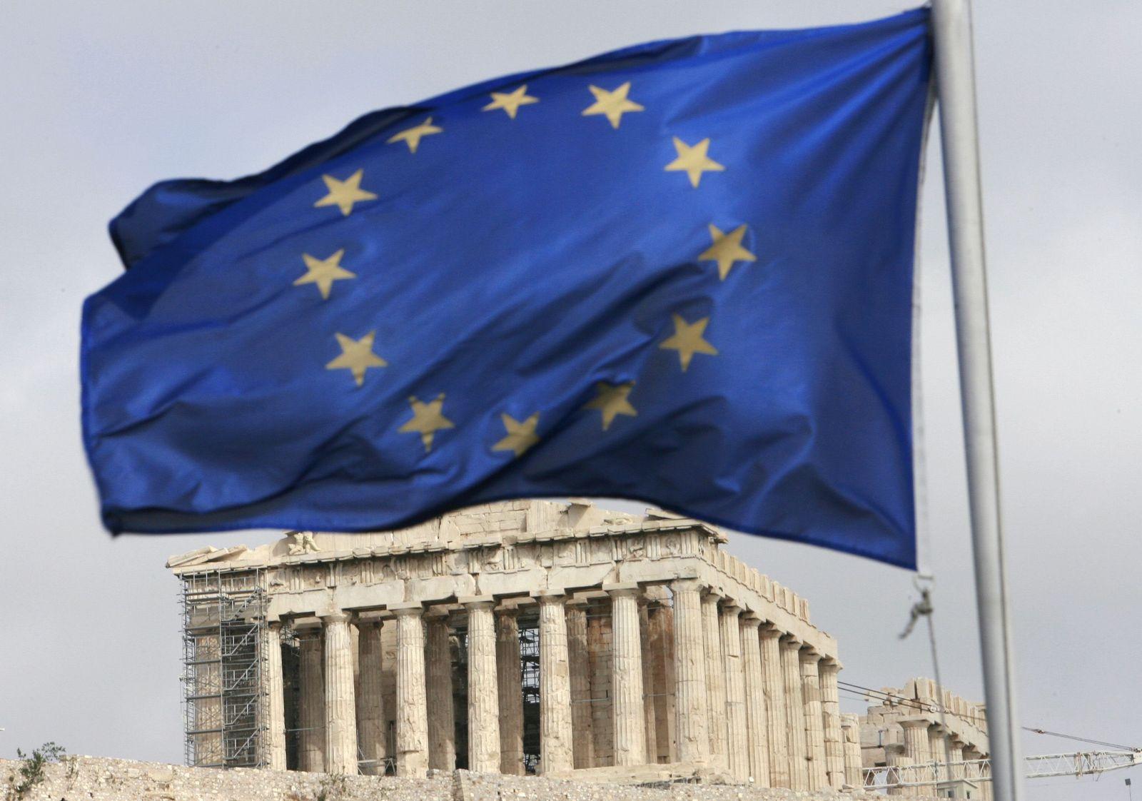 Griechenland / Flagge / Europäische Union