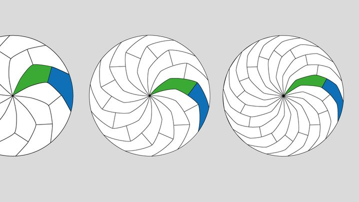 Kreis-Kachelung: Kurvige und gerade Schnitte