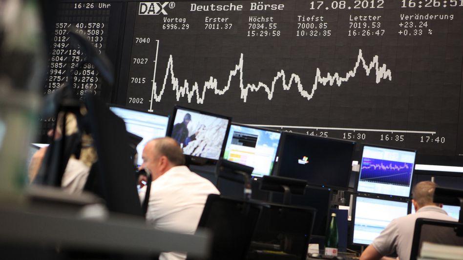 Börse in Frankfurt am Main (Archiv): Streit um Abgabe auf Aktiengeschäfte