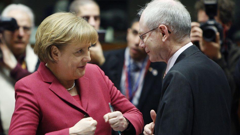 Merkel, van Rompuy: Widerstand bei anderen EU-Staaten