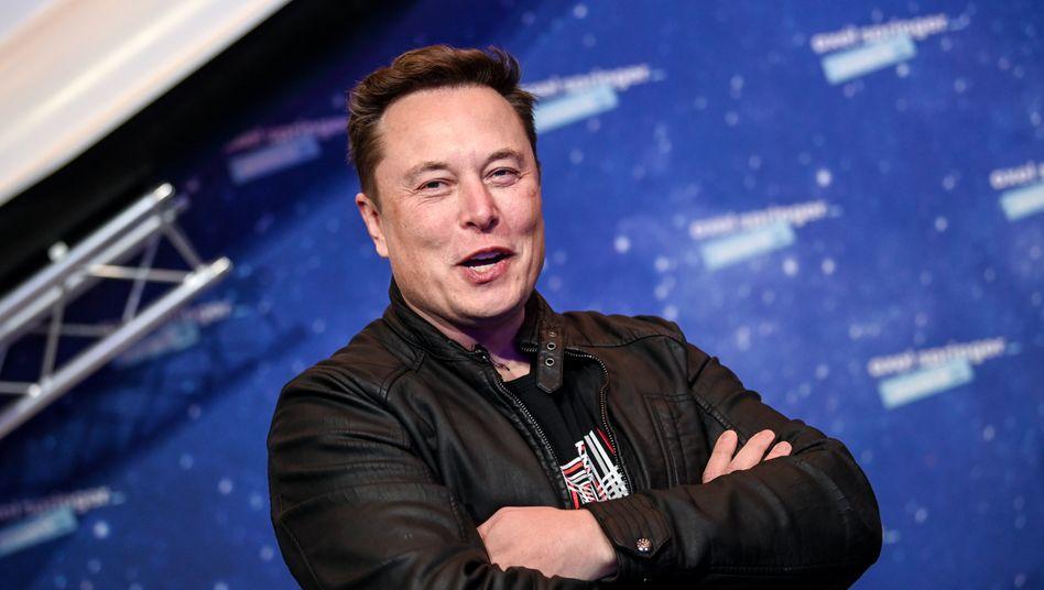 Elon Musk bei der Verleihung des Axel Springer Awards in Berlin
