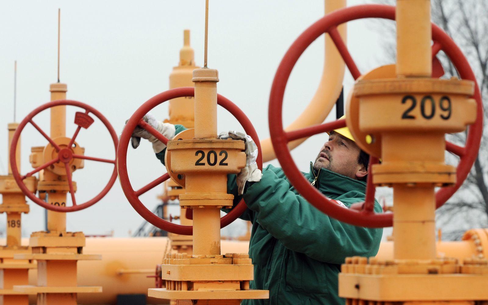 Russland Erdgas