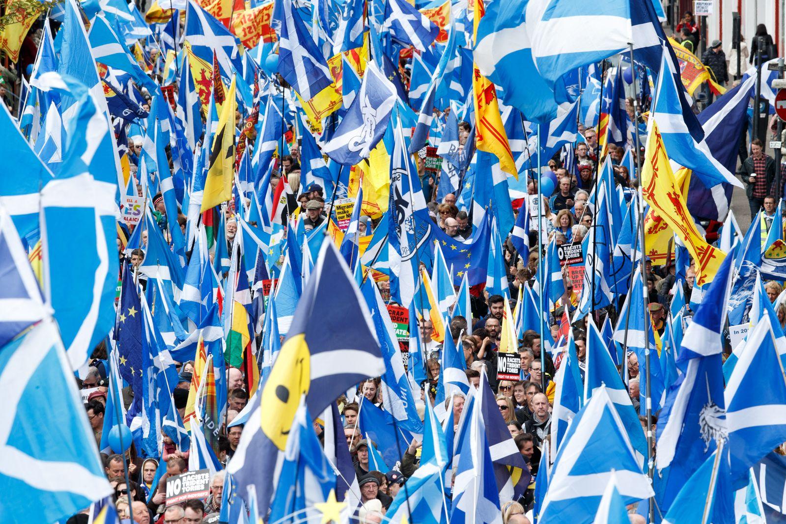Schottland Demonstration