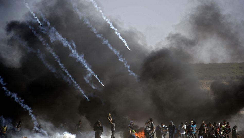 Tränengas-Einsatz am Gazastreifen