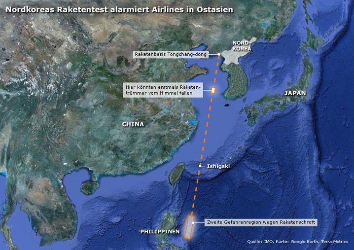 Nordkoreas Raketentest alarmiert asiatische Airlines